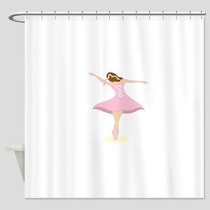 Ballerina Girl Shower Curtain