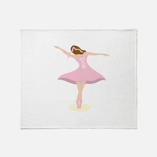 Ballerina Girl Throw Blanket
