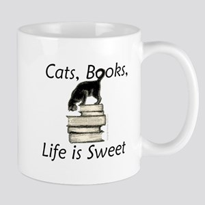 3-cat_life_sweet_large Mugs