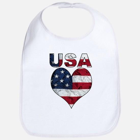 USA Heart-Americana Bib
