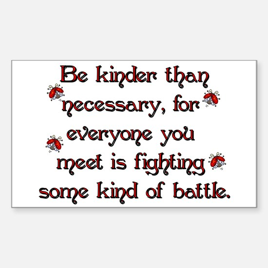 Be Kinder Rectangle Decal