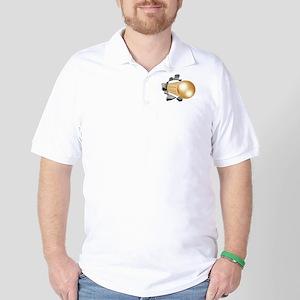 Gold Soccer Ball Golf Shirt