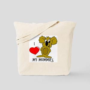I Love My Mummies Koala Tote Bag