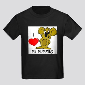 I Love My Mummies Koala Kids Dark T-Shirt
