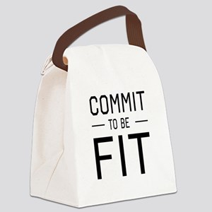 Commit to be fit Canvas Lunch Bag