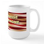 Regime Change Starts at Home Large Mug