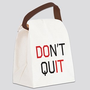 Don't quit do it Canvas Lunch Bag