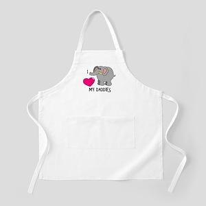 I Love My Daddies Elephant BBQ Apron