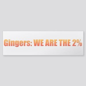 We Are The 2% Bumper Sticker