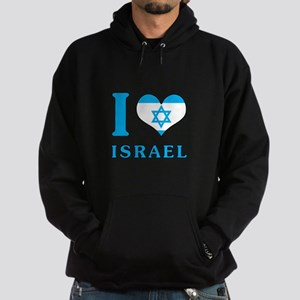 I Love Israel - Flag with Magen David Hoodie