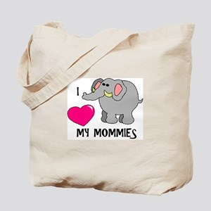 I Love My Mommies Elephant Tote Bag