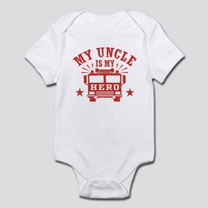 My Uncle Is My Hero Firefighter Infant Bodysuit
