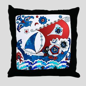Danish Seas Throw Pillow