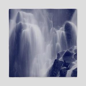Monochrome waterfall Queen Duvet