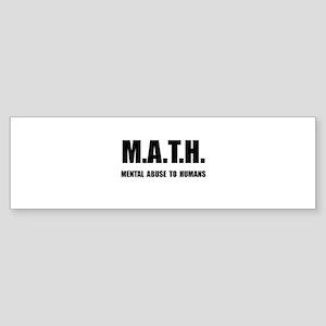 Math Abuse Bumper Sticker