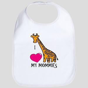 I Love My Mommies Giraffe Bib