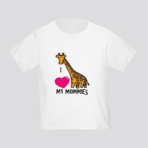 I Love My Mommies Giraffe Toddler T-Shirt