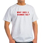 What does a scanner see? Light T-Shirt