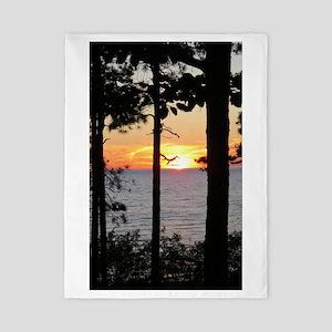 Lake Superior Sunset Twin Duvet