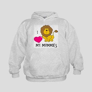I Love My Mummies Lion Kids Hoodie