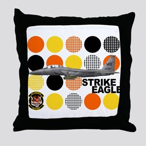 391st Fighter Squadron Bold T Throw Pillow
