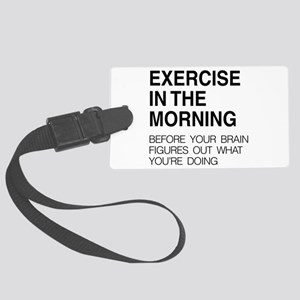 Exercise in the morning Luggage Tag