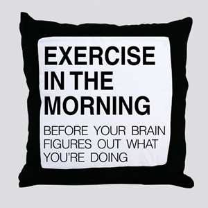 Exercise in the morning Throw Pillow