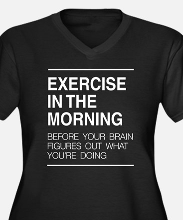 Exercise in the morning Plus Size T-Shirt