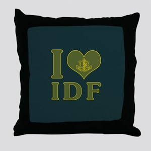 I Love IDF - Israel Defense Forces Throw Pillow