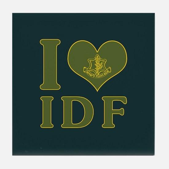 I Love IDF - Israel Defense Forces Tile Coaster
