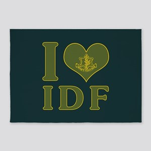 I Love IDF - Israel Defense Forces 5'x7'Area Rug