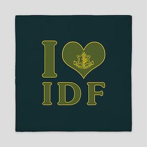 I Love IDF - Israel Defense Forces Queen Duvet