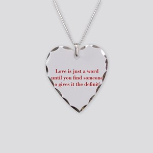 Love-is-just-a-word-BOD-RED Necklace