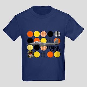 391st Fighter Squadron Bold T Kids Dark T-Shirt