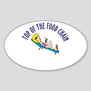Top of food chain Oval Sticker