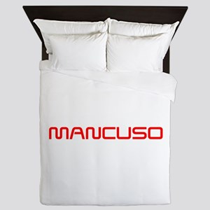 MANCUSO-SAVED-RED Queen Duvet