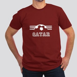 Qatar Men's Fitted Soccer Supporter T-Shirt (dark)