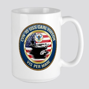 CVN-70 USS Carl Vinson Large Mug
