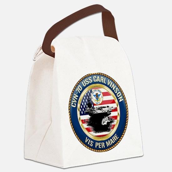 CVN-70 USS Carl Vinson Canvas Lunch Bag