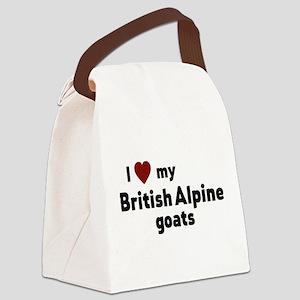 British Alpine goats Canvas Lunch Bag