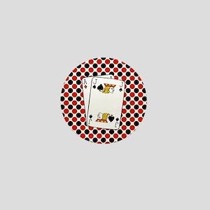 Red Black Cards Mini Button