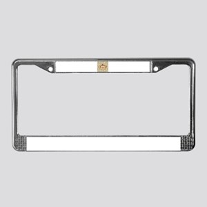 Monkey on Polka Dots License Plate Frame