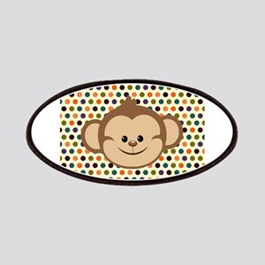 Monkey on Polka Dots Patches