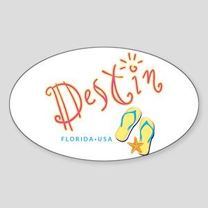 Destin - Sticker (Oval)