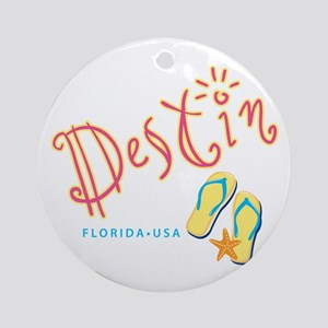 Destin - Ornament (Round)