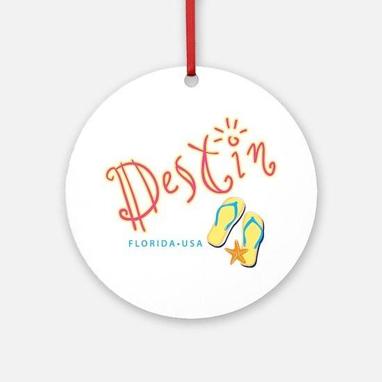 Destin - Ornament (Round)