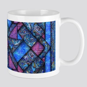 Purple and Blue Quilt Mugs