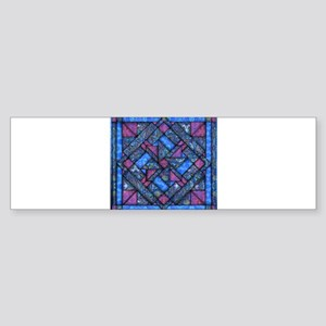 Purple and Blue Quilt Bumper Sticker
