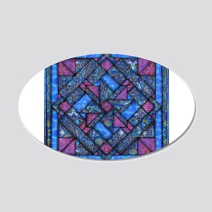 Purple and Blue Quilt Wall Decal