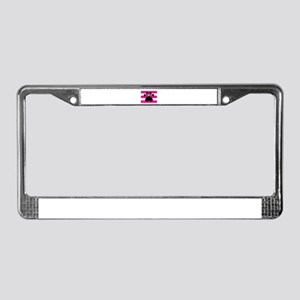 Paw Print on Hot Pink License Plate Frame